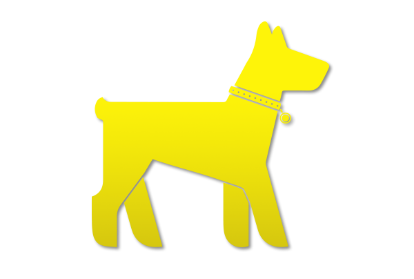 pet button yellow